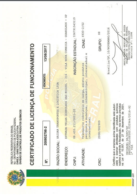 Federal Police Certificate